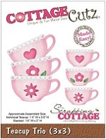 Cottage Cutz - 3x3 Dies - Teacup Trio