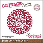 Cottage Cutz - 4x4 Dies - Sweet Love Doily