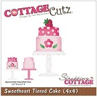 Cottage Cutz - 4x4 Dies - Sweetheart Tiered Cake