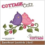 Cottage Cutz - 4x4 Dies - Sweetheart Lovebirds