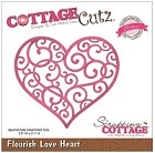 Cottage Cutz - Dies - Flourish Love Heart