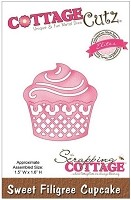 Cottage Cutz - Dies - Sweet Filigree Cupcake