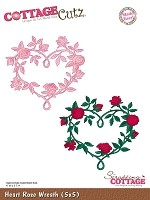 Cottage Cutz - Die - Heart Rose Wreath