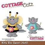 Cottage Cutz - 4x4 Dies - Kitty Bee Sweet