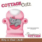 Cottage Cutz - 4x4 Dies - Kitty in Chair