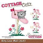 Cottage Cutz - 4x4 Dies - Kitty Love Mail