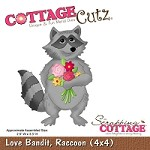 Cottage Cutz - 4x4 Dies - Love Bandit, Raccoon