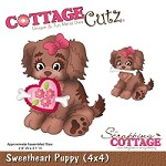 Cottage Cutz - 4x4 Dies - Sweetheart Puppy