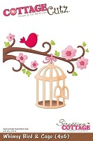Cottage Cutz - 4x6 Dies - Whimsy Bird & Cage
