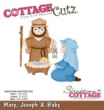Cottage Cutz - Die - Mary, Joseph & Baby