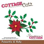 Cottage Cutz - Die - Poinsettia & Holly