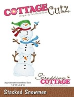 Cottage Cutz - Die - Stacked Snowmen