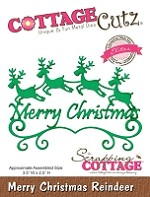Cottage Cutz - Die - Merry Christmas Reindeer (Elites)