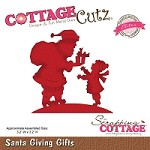 Cottage Cutz - Die - Santa Giving Gifts (Elites)
