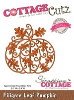 Cottage Cutz - Die - Filigree Leaf Pumpkin