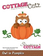 Cottage Cutz - Die - Owl In Pumpkin