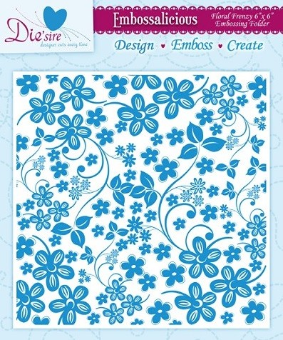 "Die'sire Embossalicious 6""x6""  Embossing Folder - Floral Frenzy"