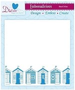 "Die'sire Embossalicious 6""x6"" Embossing Folder - Beach Huts"
