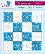 "Die'sire Embossalicious 6""x6"" Embossing Folder - Floral Stitch"
