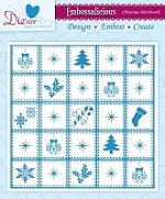 "Die'sire Embossalicious 6""x6""  Embossing Folder - Christmas Patchwork"