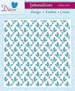 "Die'sire Embossalicious 6""x6""  Embossing Folder - Holiday Holly"