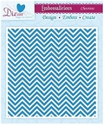 "Die-sire Embossalicious 6""x6"" Embossing Folder - Chevrons"