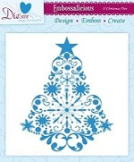 "Die'sire Embossalicious 6""x6""  Embossing Folder - O' Christmas Tree"
