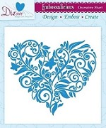 "Die'sire Embossalicious 6""x6"" Embossing Folder - Decorative Heart"