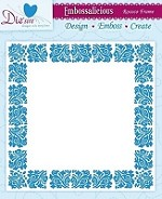 "Die'sire Embossalicious 6""x6"" Embossing Folder - Rococo Frame"