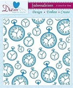 "Die'sire Embossalicious 8""x8"" Embossing Folder - A Stitch In Time"