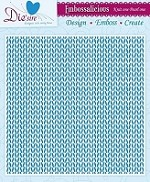 "Die'sire Embossalicious 8""x8"" Embossing Folder - Knit One Pearl One"