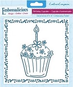 "Crafter's Companion - Embossalicious 6""x6"" Embossing Folder - Birthday Cupcake"