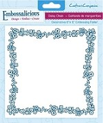 "Crafter's Companion - Embossalicious 6""x6"" Embossing Folder - Daisy Chain"