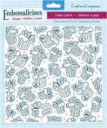 "Crafter's Companion - Embossalicious 8""x8"" Embossing Folder - Cakes Galore"