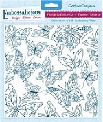 "Crafter's Companion - Embossalicious 8""x8"" Embossing Folder - Flutterby Butterfly"