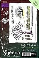 Crafter's Companion - Sheena Perfect Partners EZMount Stamp Set - Enjoy the Silence