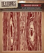 "Crafter's Companion - Textures 8""x8"" Embossing Folder - Wood Grain"