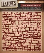"Crafter's Companion - Textures 8""x8"" Embossing Folder - Dry Stone Wall"
