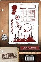Crafter's Companion - Textures EZMount Stamp Set - Journal Jotting