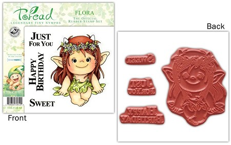 Stampworkz - Toreads - EZMount Rubber Stamp Set - Flora