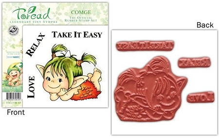 Stampworkz - Toreads - EZMount Rubber Stamp Set - Comge
