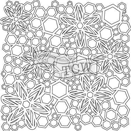 "The Crafter's Workshop 12""x12"" Stencil -  Hex Flowers"