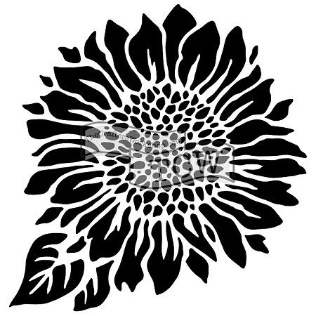 "The Crafter's Workshop 12""x12"" Stencil -  Joyful Sunflower"