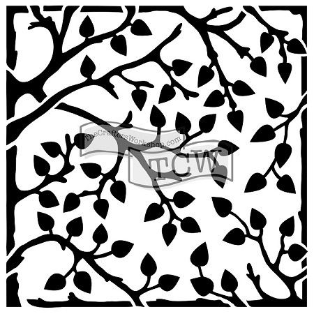 "The Crafter's Workshop 12""x12"" Stencil -  Leafy Branches"