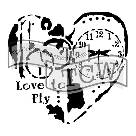 "The Crafter's Workshop 12""x12"" Stencil - Love To Fly"