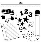 "Crafter's Workshop Templates 12""x12"" Back to School"