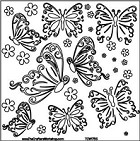 "Crafter's Workshop Templates 12""x12"" Butterflies"