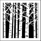 "Crafter's Workshop 12""x12"" Template- Aspen Trees"
