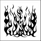 "Crafter's Workshop 12""x12"" Template- Flames"