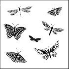 "Crafter's Workshop 12""x12"" Template- Mariposas Butterfly"